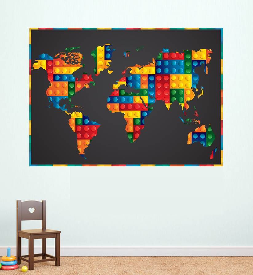 Lego Map Poster