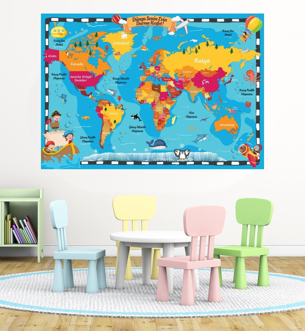 Kids World Map P6